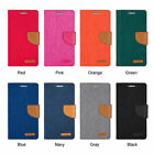 for iPONE 6 PLUS 5.5'' CANVAS FABRIC DIARY WALLET HARD CARD CASE COVER STAND