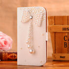 Cute Bling Crystal Diamonds PU leather flip slots book wallet case cover skin #4