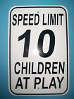 Speed Limit 10 Children At Play Parking Signs 12X18 Aluminum Road & Street Sign