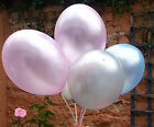 Wedding balloons 10 pearl white, ivory, pink, light blue, lavender, silver etc