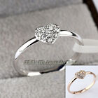 B1-R530 Fashion Rhinestone Heart Ring 18KGP Crystal Size 5.5-9