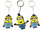 Official Licensed Minions Movie II Key Rings/Bag Clips Flat PVC with Metal Ring