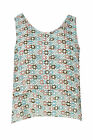 Women Ladies Floral Layer Sleevless White Top CTP 33