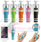 Mini Handheld Self Selfie Stick Wired Extendable For iPhone Samsung Smart phone