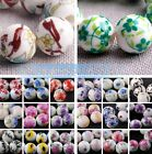 10pcs Round Ceramic Porcelain Charm Loose Spacer Beads Jewelry Findings