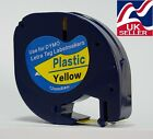 1-100 tape cartridge 91202 yellow plastic 12mmx4m for DYMO LETRATAG label makers