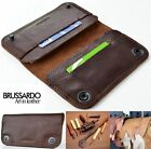 Luxus ECHT LEDER Handy Tasche Schutz Hülle Case Cover Etui Apple iPhone 6 Plus