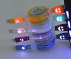 LED retractable Smiley USB Data Charger Cable For iPhone 5 5s 5c iPhone 6