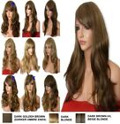 Blonde Mix Wig Natural Long Curly Straight Wavy Women Ladies Fashion Wig Party