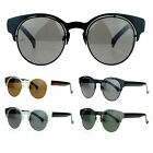 SA106 Womens Metal Horn Half Rim Shape Retro Sunglasses