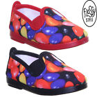 Flossy Haro Kids Jelly Bean Print Canvas Trainers Slip On Uk Size