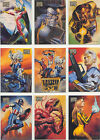 Marvel Masterpieces 1996 Singles 61 - 100 + Gallery and Double Impact Inserts