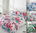 Bird Floral Nature Quilt Duvet Cover & Pillowcase Bedding Bed Set 4 Sizes