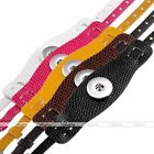 Punk Color PU Leather Buckle Bracelet Fit Buttons Beads Popper Snap Fastener DIY