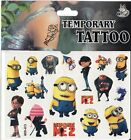 DESPICABLE ME MINIONS DISNEY Temporary Tattoos Brand New and Fully Sealed