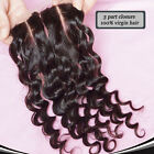 Brazilian Deep Curly Lace Closure Human Hair Lace Closure 4*4 3 part 7A Grade