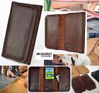 "Custom Made Brussardo ""Ambitious"" Dark Brown Real Leather Case Wallet HTC One M9"