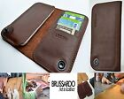 Custom Handmade Brussardo Brown Real Leather Case Wallet Samsung Galaxy S6 Edge