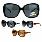 SA106 Womens Polarized Lens Elegant Rhinestone Butterfly Sunglasses