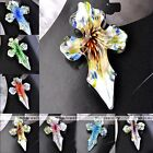 1x Murano Focal Lampwork Glass Flower Cross Bead Pendant Charms Fit Necklace DIY