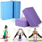 2Pcs Pilates Yoga Block Foaming Foam Brick Exercise Fitness Stretching Aid Gym