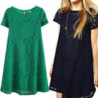 Women Sexy Lace Floral Leisure Short Party Evening Cocktail Mini Dress Popular