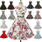 Vintage Retro Rockabilly 50's Pinup Housewife Evening Party Cocktail Swing Dress