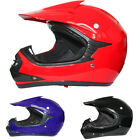 Junior Kids Motocross Helmet Motorbike MotoX Dirt Bike MX BMX MTB Red Blue Black