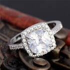Fashion Silver Plated Cubic Zirconia New Wedding Engagement Ring Size 6-10