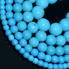 Natural Blue Turquoise Gemstone Round Beads 15.5''2,4,6,8,10,12,14mm
