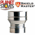 Stainless Shieldmaster Adapter From Flexible Flue Liner To Twin Wall Flue Pipe