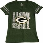 Green Bay Packers Youth Girls Imprinted V-neck-10031-10032 $19.95 USD on eBay