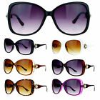 SA106 Womens Large Broche Rhinestone Jewel Hinge Butterfly Sunglasses