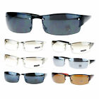 Mens Classic Rectangular Rimless Warp Luxury Designer Fashion Sunglasses