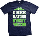 I See Gators Everywhere- Funny Fitness Exercise Workout Meme Mens T-Shirt