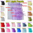 25 9x12cm Organza Jewellery Packing Gift Bags Pouches Wedding Party Decor