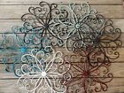 Cottage Chic, Metal Wall Decor, Beachy Beach Turquoise flower, wall art, Shabby