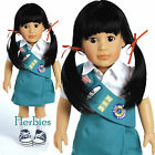 "Adora Lily Girl Scout Jr. 4-Ever Friends 18"" Vinyl Charisma Dolls NIB"