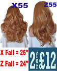 STRAWBERRY BLONDE Long Curly Layered Half Wig Hair Piece Ladies 3/4 Wig Fall #27