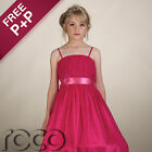 Pink Dress For Girls With Ring - Girl Dress For A Wedding Or Graduation