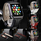 Genuine Leather Steel Buckle Wrist Band Watch Belt for Apple iWatch 38mm/42mm