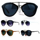 SA106 Mens Metal Double Bridge Retro Plastic Aviator Sunglasses