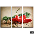 Spices Chili pepper  Food Kitchen BOX FRAMED CANVAS ART Picture HDR 280gsm