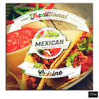 Mexican Typography  Food Kitchen BOX FRAMED CANVAS ART Picture HDR 280gsm