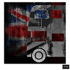 Union Jack Grunge Bus  Urban BOX FRAMED CANVAS ART Picture HDR 280gsm