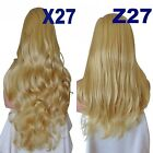 GOLDEN Long Curly Layered Half Wig Hair Piece Ladies 3/4 Wig Fall Clip in #26