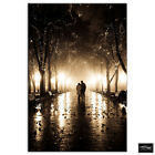 Park Couple Trees   Love BOX FRAMED CANVAS ART Picture HDR 280gsm