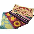 Indoor Outdoor Doormat Shoe Cleaner Floor Mat Bristles Different Colours Designs