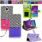 For Samsung Galaxy Note 4 SM-N910A N910C Zig Zag Leather Wallet Card Holder Case