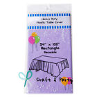 Heavy Duty Plastic Table Covers TABLECLOTH (Reusable) in 22 colors and 2 Size!!